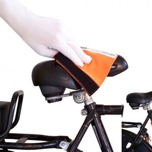 Een droogdoek voor de fietzadel