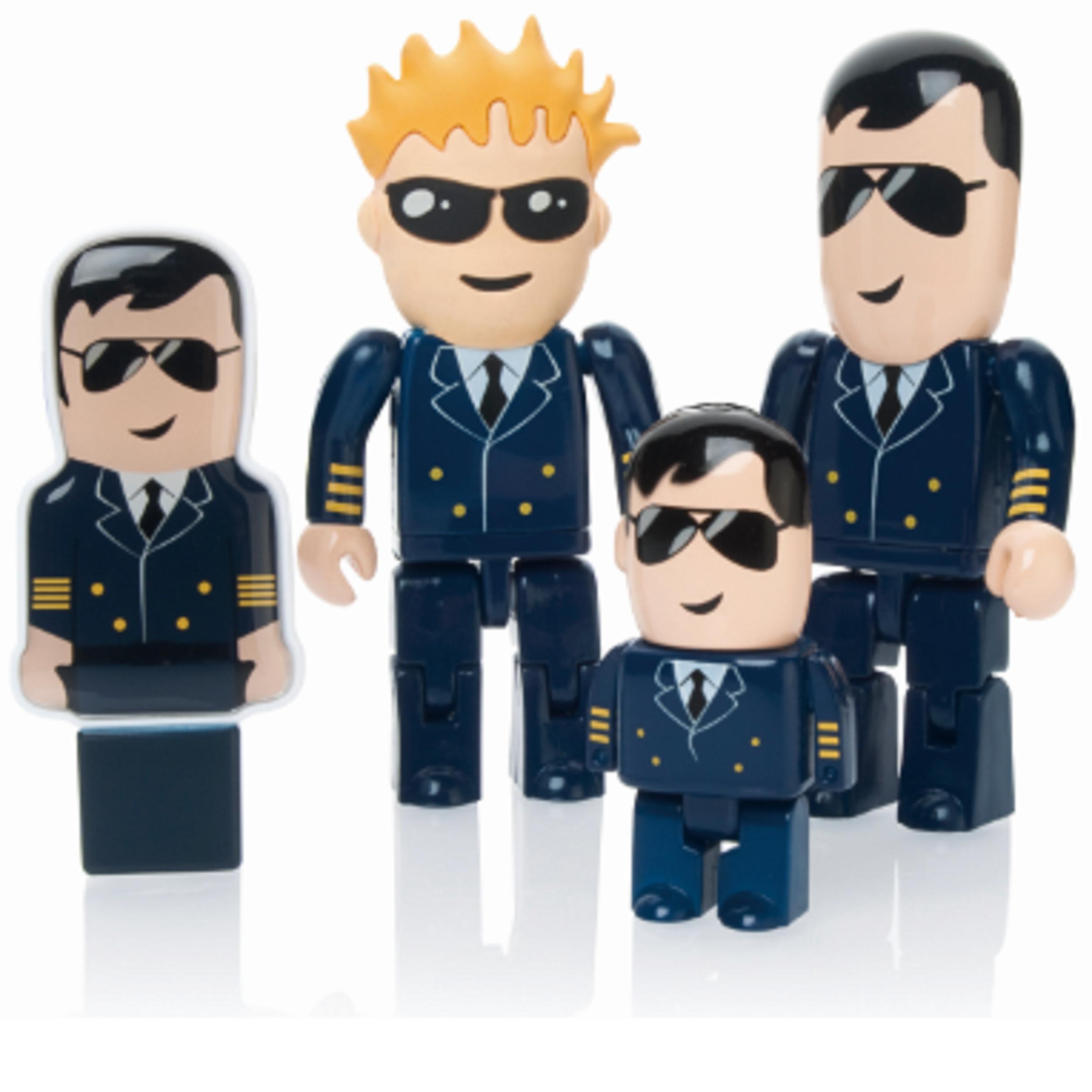 USB-stick piloot steward als relatiegeschenk