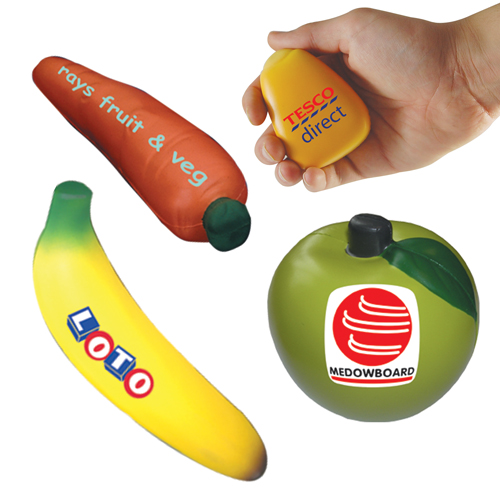 Groente en fruit stress items als relatiegeschenk