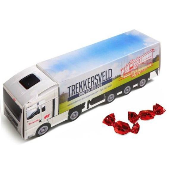 DHL vrachtwagen snoep