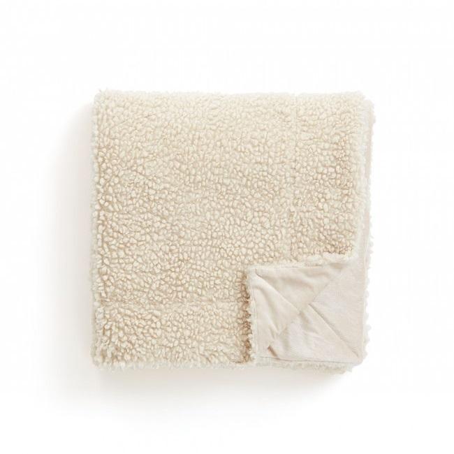 Wit plaid soft als relatiegeschenk