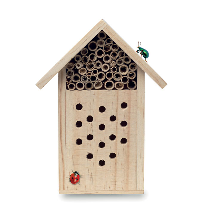 Houten insecten hotel als relatiegeschenk