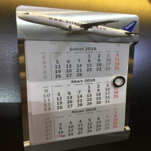 Vliegtuigkalender als relatiegeschenk