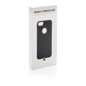 iPhone 6-7 case voor draadloos opladen bedrukt met logo