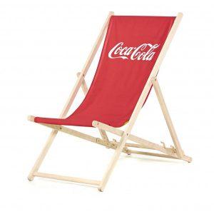 Strandstoel met logo bedrukt