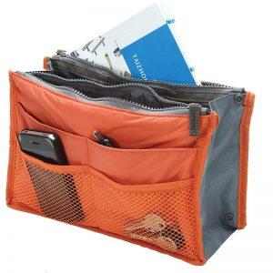 Dames tas organizer bag in bag bedrukt als relatiegeschenk