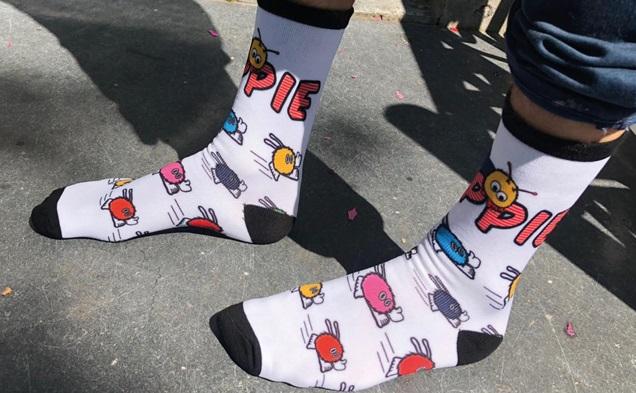 Bedrukte sokken full colour zonder naden