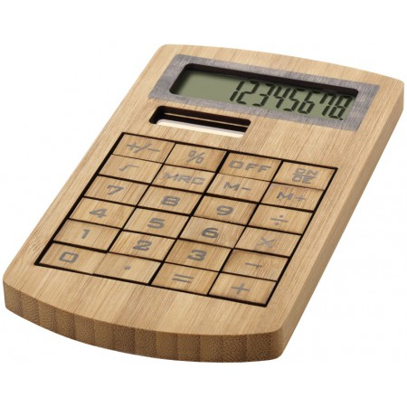 houten rekenmachine als relatiegeschenk