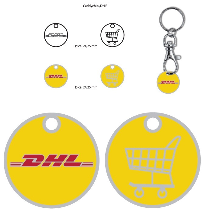 DHL winkelwagenmuntjes