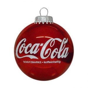 Unieke kerstbal met logo coca cola bedrukt