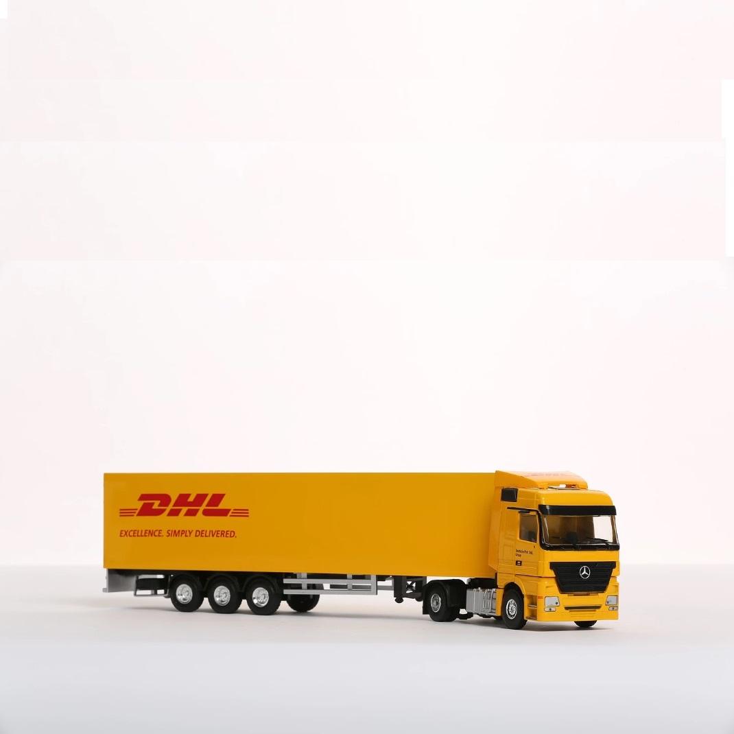 DHL miniatuur vrachtwagen als relatiegeschenk