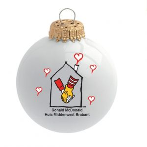 Ronald Mc Donald kerstballen