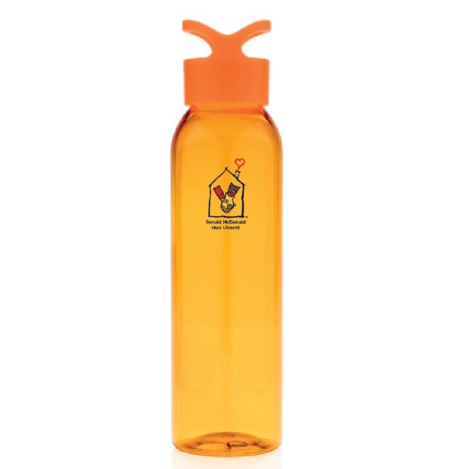 Waterfles Ronald McDonald oranje relatiegeschenk
