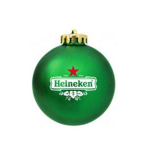 Bedrukte kerstbal met logo als relatiegeschenk