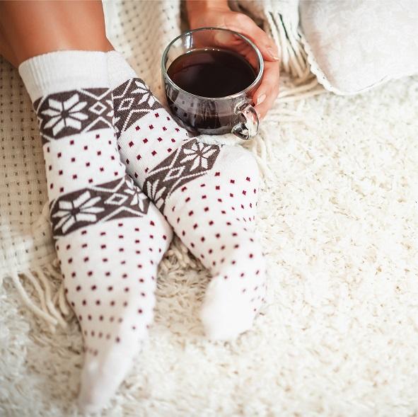 Warmen winter sokken met logo
