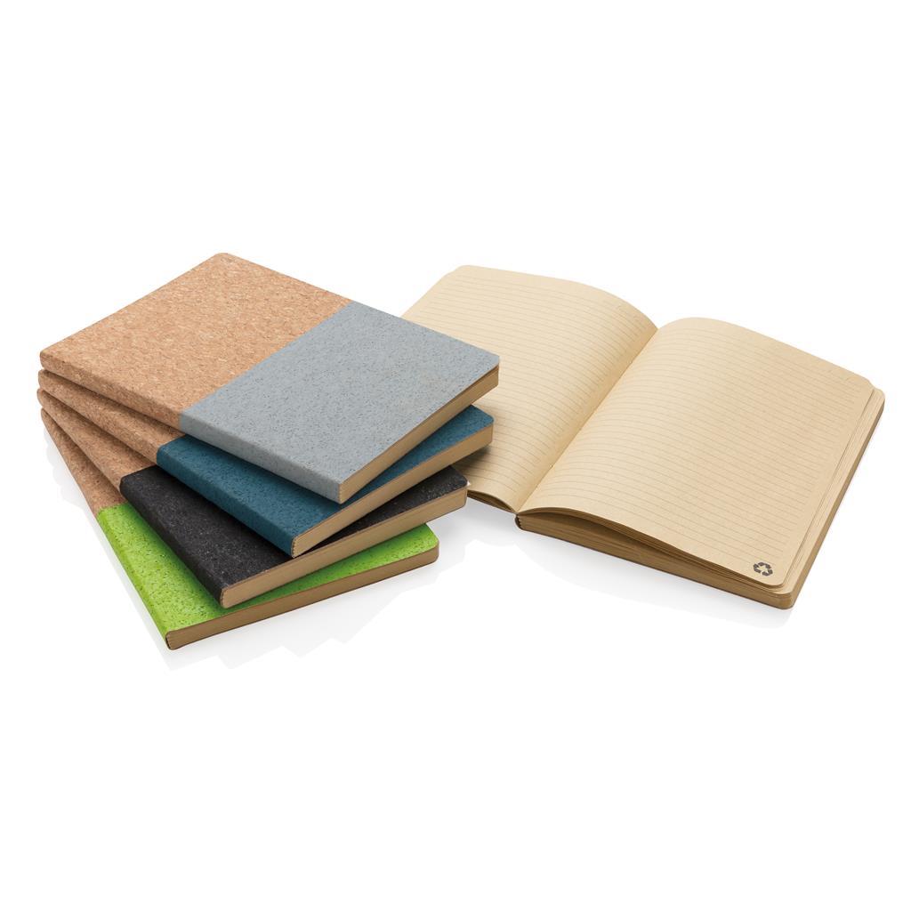 Eco kurk notitieboek als relatiegeschenk