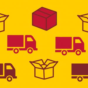 DHL sokken parcel vrachtwagen met logo design Tiger Concept