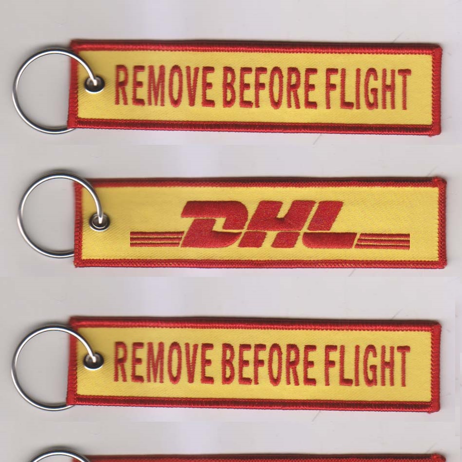 DHL Remove before flight sleutelhanger