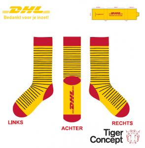 DHL sokken parcel dots met logo design Tiger Concept
