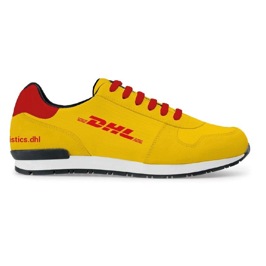 DHL sneakers met logo geel