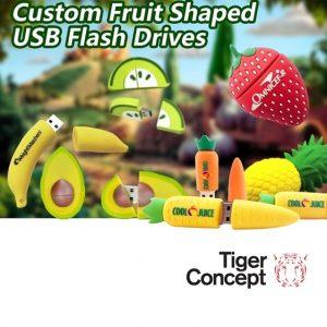 Fruit USB stick met logo bedrukken