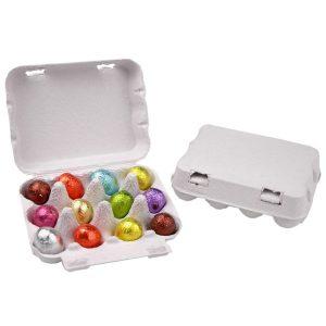 paaseidoos-karton-12-paaseitjes met logo bedrukken chocola