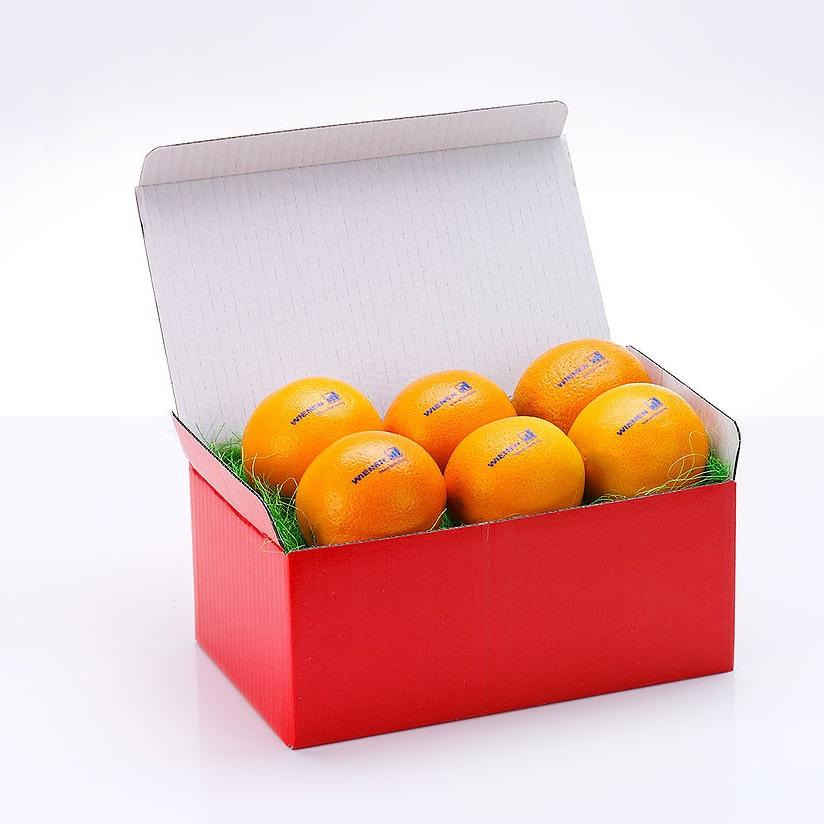 Sinaasappels met logo bedrukken