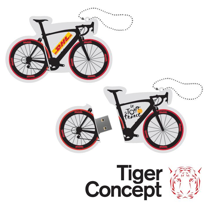 DHL USB-stick fiets als relatiegeschenk