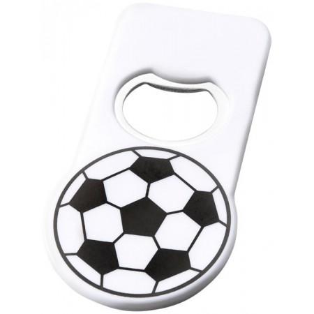 voetbal flesopener bedrukt met logo