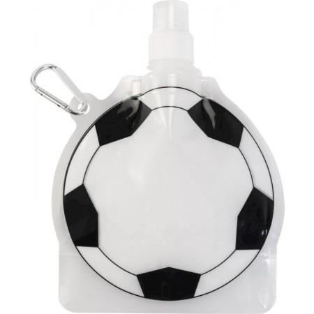 fles met voetbalvorm bedrukt met eigen logo