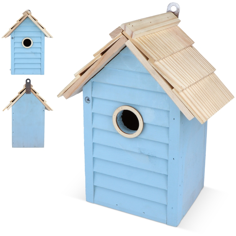 houten vogelhuisje als relatiegeschenk met logo