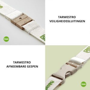 Groene ECO lanyards accessoires