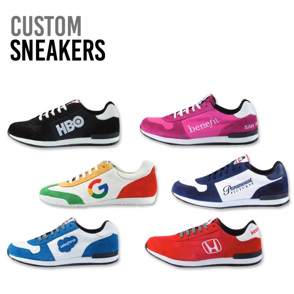 Deisgn sneakers met logo