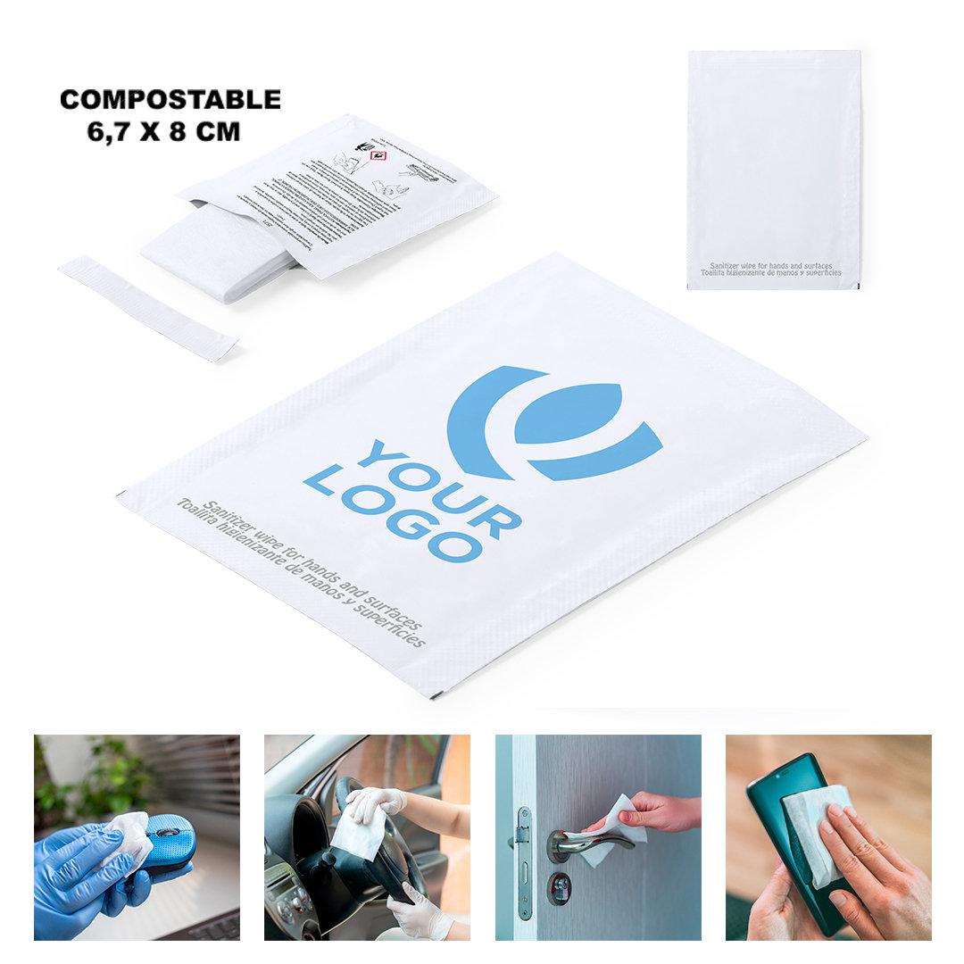 Desinfectiedoekjes met logo bedrukt