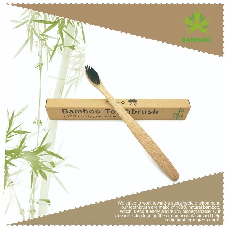 Duurzame bamboe tandenborstel met logo