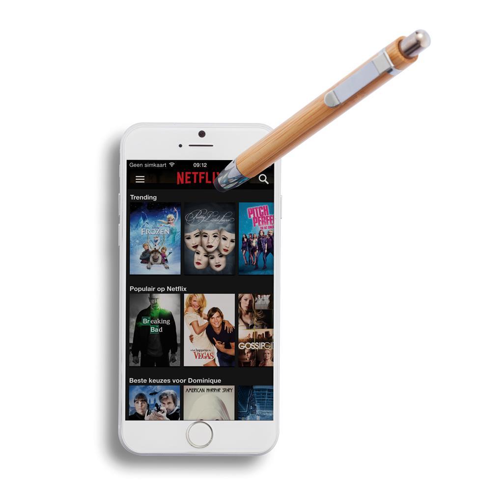 Bamboe touchscreen pen  als relatiegeschenk