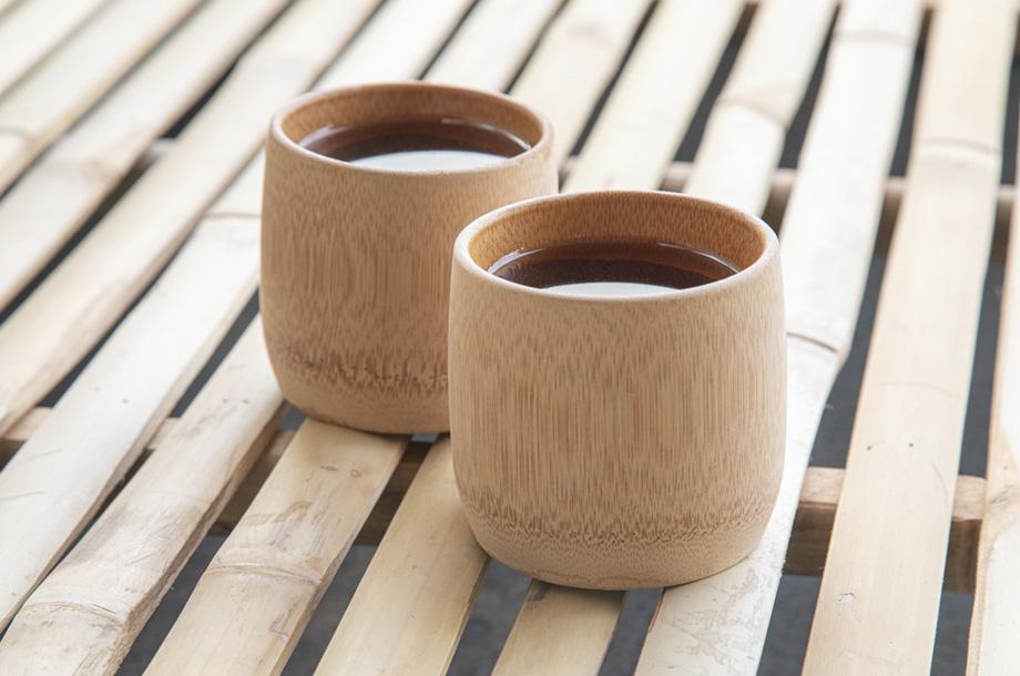Duurzame handgemaakte bamboe bekers met logo bedrukken
