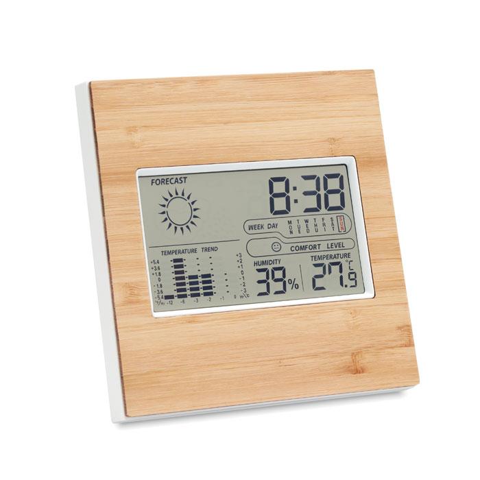 Multifunctionele thermometer met bamboe als relatiegeschenk