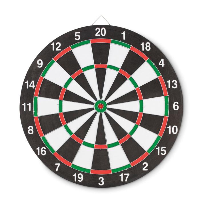 Dartboard met 3 PVC dartpijltjesals relatiegeschenk