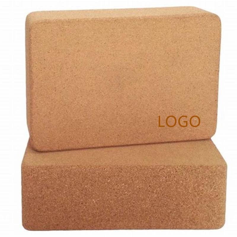 Duurzame kurk yogablok met logo