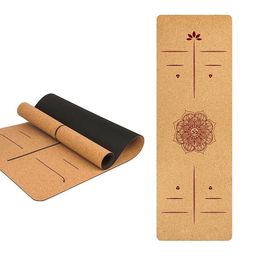 Duurzame kurk yogamat met logo graveren