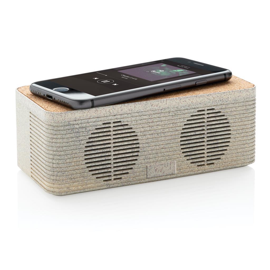 Tarwestro 5W speaker met draadloze oplader met logo