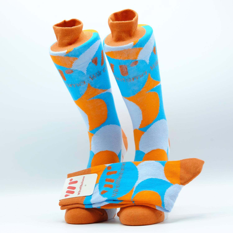 gewoven sokken met logo